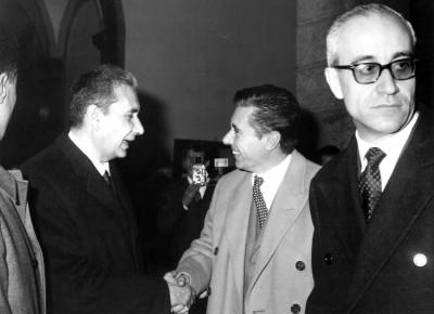 La cerimonia d'inaugurazione il 23 Maggio 1964 alla presenza del primo ministro Aldo Moro.