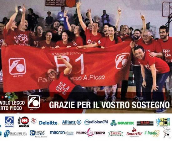 Acciaitubi Picco Lecco promossa in serie B1 di volley femminile